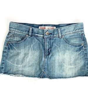 Target mini Jean skirt distressed denim short